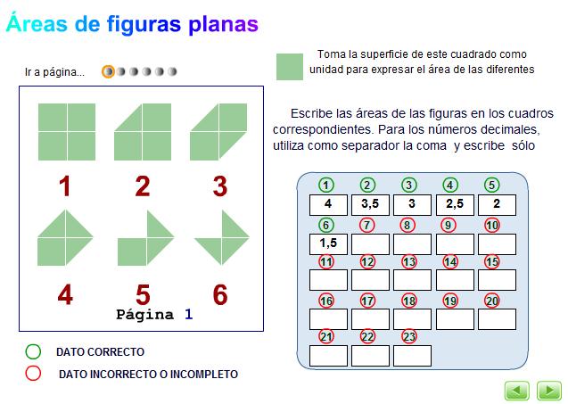 Cálculo estratégico de diferentes colecciones de figuras planas