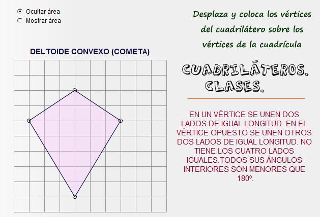 Cuadrilátero dinámico e interactivo. Clases de cuadriláteros.