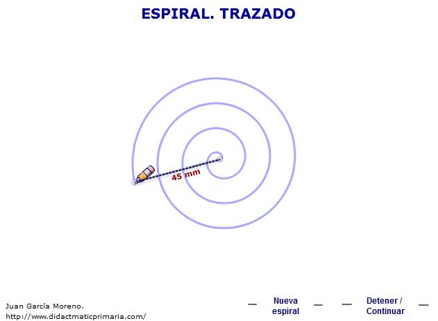 Trazado dinámico de una espiral