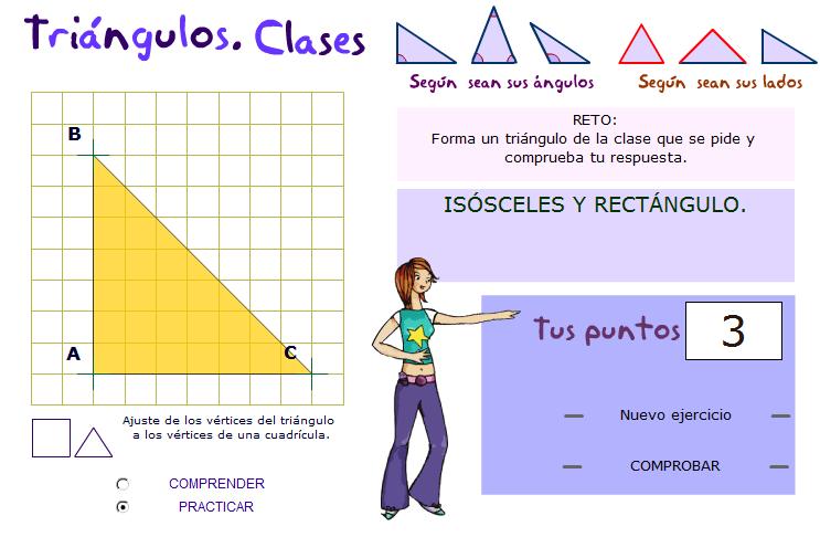 Clasificación interactiva de triángulos