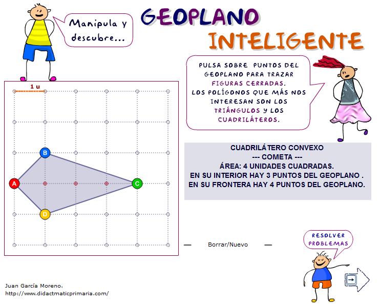 Geoplano inteligente y resolución de problemas geométricos