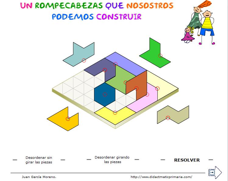 Rompecabezas rómbico con 12 hexadeltas