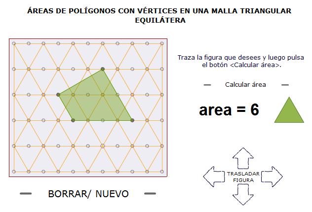 Áreas de polígonos con vértices sobre puntos de una trama isométrica_II