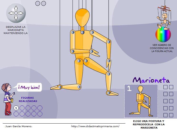 Marioneta. Reproducir posturas dadas