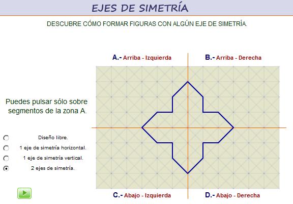 Construcción de figuras con uno y dos ejes de simetría bilateral