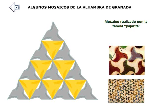 Ilustración dinámica de algunos mosaicos de la Alhambra de Granada.