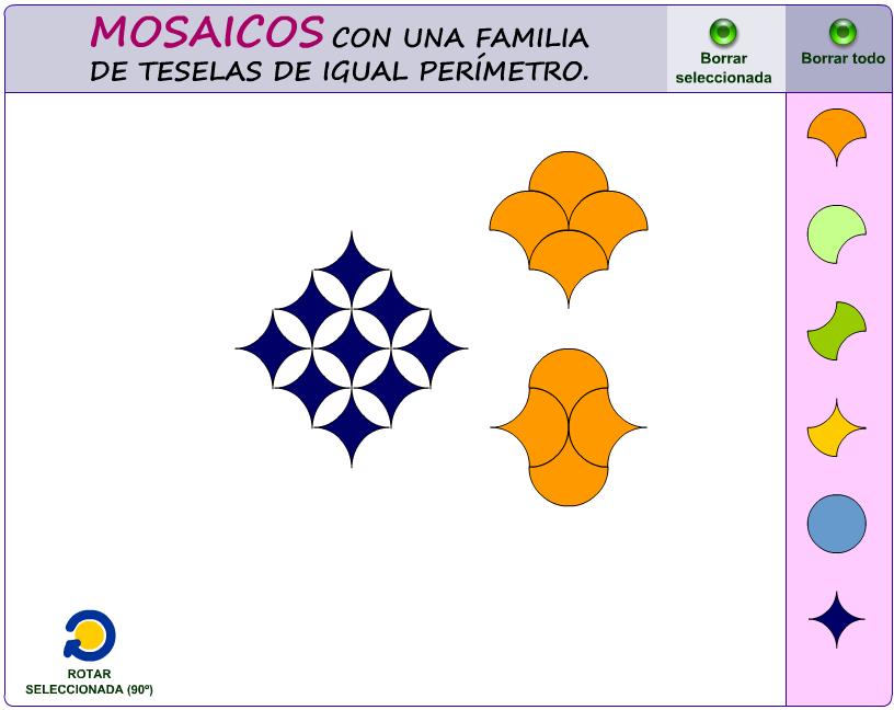Diseño de mosaicos a partir de una familia de teselas de igual perímetro.