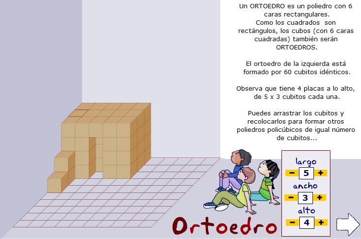 Ortoedros y construcciones policúbicas. Volumen del ortoedro