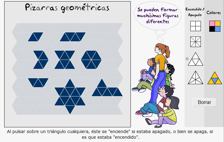 Pizarras geométricas y construcción de familias de figuras